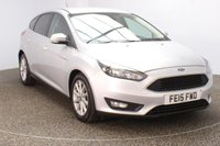 USED 2015 15 FORD FOCUS 1.6 ZETEC TDCI 5DR 114 BHP FULL SERVICE HISTORY + BLUETOOTH + MULTI FUNCTION WHEEL + AIR CONDITIONING + PRIVACY GLASS + DAB RADIO + RADIO/CD/AUX/USB + ELECTRIC WINDOWS + ELECTRIC MIRRORS + 16 INCH ALLOY WHEELS