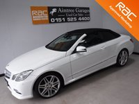 USED 2012 62 MERCEDES-BENZ E CLASS 2.1 E250 CDI BLUEEFFICIENCY SPORT 2d AUTO 204 BHP