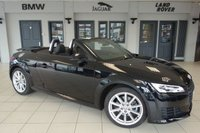 USED 2016 16 AUDI TT 2.0 TFSI SPORT 2d AUTO 227 BHP FINISHED IN STUNNING BLUE WITH SPORT CLOTH SEATS + FULL AUDI SERVICE HISTORY + VIRTUAL COCKPIT + XENON HEADLIGHTS + BLUETOOTH + LED DAYTIME LIGHTS + DAB RADIO + 18 INCH ALLOYS + TINTED GLASS + AIR CONDITIONING
