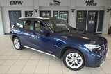 USED 2011 11 BMW X1 2.0 XDRIVE20D SE 5d AUTO 174 BHP DEEP SEA BLUE WITH FULL OYSTER CREAM LEATHER SEATS + BLUETOOTH + REAR PARKING SENSORS + CRUISE CONTROL + FOUR WHEEL DRIVE + 17 INCH ALLOYS + AUTOMATIC AIR CONDITIONING