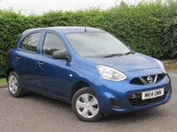 USED 2014 14 NISSAN MICRA 1.2 VISIA 5d * ECONOMICAL AVE MPG 56.5 * £30 ROAD TAX * LOW INSURANCE GROUP *