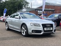USED 2011 11 AUDI A5 3.0 TDI QUATTRO S LINE 3d 240 BHP NAVIGATION SYSTEM *  LEATHER TRIM *  1 PREVIOUS KEEPER *  MOT MARCH 2020 *  SERVICE RECORD *  PARKING AID *