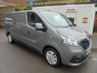 2017 RENAULT TRAFIC 1.6 DCI LL29 SPORT NAV 120 BHP LONG WHEEL BASE FULL SERVICE HISTORY, SAT NAVIGATION, AIR CONDITIONING, ELECTRIC PACK, METALLIC GREY £8500.00