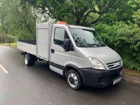 USED 2009 09 IVECO DAILY LWB TOOL BOX TIPPER 3.0 LTR 150 BHP 35C15 70K TREE SURGEON ARBORIST TRUCK DIRECT 1 OWNER SILVER