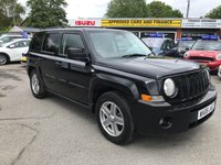 2008 JEEP PATRIOT 2.0 SPORT CRD 5d 139 BHP IN BLACK WITH 125000 MILES IN GOOD CONDITION (TRADE CLEARANCE) £2499.00