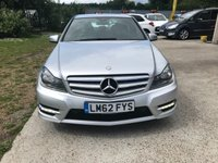 USED 2012 62 MERCEDES-BENZ C CLASS 2.1 C220 CDI BLUEEFFICIENCY AMG SPORT 4d AUTO 168 BHP SPORT MODEL WITH MERCEDES SERVICE HISTORY