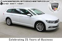 """USED 2015 15 VOLKSWAGEN PASSAT 2.0 SE BUSINESS TDI BLUEMOTION TECHNOLOGY 5d 148 BHP Finished in stunning Pure White Metallic with Black Cloth Upholstery, 17"""" Alloy Wheels, Privacy Glass, Parking Sensors and Service History. Satellite Navigation, Electric Seats, Bluetooth, DAB Radio, Stop/Start, Multi Function Wheel, Cruise Control, Air Con"""