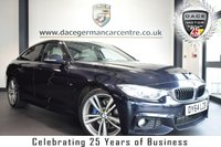 USED 2014 64 BMW 4 SERIES GRAN COUPE 2.0 420D M SPORT GRAN COUPE 4DR AUTO 181 BHP superb service history * NO ADMIN FEES * FINISHED IN STUNNING CARBON BLACK WITH FULL OYSTER LEATHER INTERIOR + SUPERB SERVICE HISTORY + PRO SATELLITE NAVIGATION + BLUETOOTH + XENON LIGHTS + REAR-VIEW CAMERA + HEATED SEATS + HARMAN/KARDON SURROUND SOUND + CRUISE CONTROL + DAB RADIO + RAIN SENSORS + LIGHT PACKAGE + PARKING SENSORS + 19 INCH ALLOY WHEELS