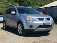 USED 2007 57 MITSUBISHI OUTLANDER 2.0 INTENSE ELEGANCE H-LINE DI-D 5d 139 BHP NAVIGATION SYSTEM * 7 SEATS * LEATHER * PRIVACY GLASS *  SUNROOF *  18 INCH ALLOYS *