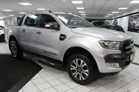 USED 2016 16 FORD RANGER 3.2 TDCI WILDTRAK 4X4 DCB AUTO 200 BHP 1 OWNER SAT NAV HEATED LEATHER