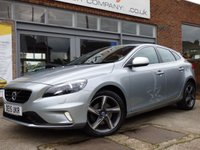 USED 2015 15 VOLVO V40 2.0 D2 R-DESIGN LUX NAV 5d 118 BHP ONE OWNER WITH FULL VOLVO SERVICE HISTORY & FREE ROAD TAX