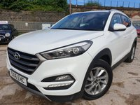 "USED 2016 16 HYUNDAI TUCSON 1.7 CRDI SE NAV BLUE DRIVE 5d 114BHP 2KEYS+17""ALLOYS+30 ROAD TAX+CLIMATE+MEDIA+PARK+BLUETOOTH+NAV+"