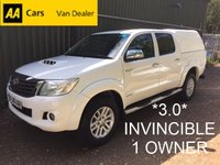 2016 TOYOTA HI-LUX 3.0 INVINCIBLE 4X4 D-4D *170BHP*ONE OWNER*FULL SERVICE HISTORY* £12995.00