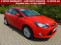 USED 2013 13 FORD FOCUS 1.6 TITANIUM 5d AUTO 124 BHP All retail cars sold are fully prepared and include - Oil & filter service, 6 months warranty, minimum 6 months Mot, 12 months AA breakdown cover, HPI vehicle check assuring you that your new vehicle will have no registered accident claims reported, or any outstanding finance, Government VOSA Mot mileage check. Because we are an AA approved dealer, all our vehicles come with free AA breakdown cover and a free AA history check.. Low rate finance available. Up to 3 years warranty available.