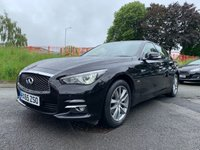 USED 2015 65 INFINITI Q50 2.1 SE EXECUTIVE D 4d 168 BHP FSH+1FORMERKEEPER+HALF LEATHER SEATS+30 TAX+REVERSE CAMERA+MEDIA+BLUETOOTH+USB+AUX+DAB+AUTO LIGHTS AND WIPERS+