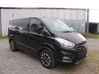 2019 FORD TRANSIT CUSTOM 69 Plate Transit Custom Sport 170 L1 H1 6 speed Manual, led load lights, Metallic Black £22999.00