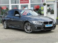 USED 2015 15 BMW 3 SERIES 3.0 330D XDRIVE M SPORT TOURING 5d AUTO 255 BHP STUNNING, 1 OWNER, 4X4 BMW 330 XDRIVE, M-SPORT 3.0D, TOURING ESTSTE. Finished in MINERAL GREY with contrasting EBONY HEATED LEATHER TRIM. This BMW 330 Touring X-DRIVE is fun to drive with a well built interior. Ideal car if your looking for a practical family car yet is still great fun to drive. BMW Dealer Serviced at 15649 miles, 29113 miles, 44743 miles and at 47313 miles. Features include, Sat Nav, DAB, Full Heated Leather, B/Tooth, 4x4, Harmon Kardon speakers and much more.