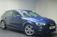 """USED 2014 14 AUDI A3 2.0 TDI S LINE 5d AUTO 148 BHP 18""""ALLOYS+PARKING SENS+B/TOOTH+GEAR SHIFT PADDLES+HALF LEATHER"""