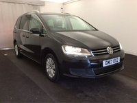 "USED 2017 17 VOLKSWAGEN SHARAN 2.0 SE TDI BLUEMOTION TECHNOLOGY DSG 5d AUTO 148 BHP 16""ALLOYS+PARKING SENS+CRUISE+GEAR SHIFT PADDLES+CLIMATE CON+FSH"