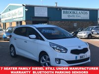 USED 2016 16 KIA CARENS 1.7 CRDI 2 ISG 5d 114 BHP 7 Seater Full Service History  7 Seater Family Diesel Still Under manufacturer Warranty  Bluetooth Parking sensors