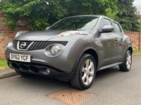 USED 2012 62 NISSAN JUKE 1.6 ACENTA 5d 117 BHP 2 OWNER, FULL SERVICE HISTORY, 1YR MOT, EXCELLENT CONDITION, ALLOYS, CLIMATE, CRUISE, BLUETOOTH, FOGS, RADIO CD, E/WINDOWS, R/LOCKING, FREE WARRANTY, FINANCE AVAILABLE, HPI CLEAR, PART EXCHANGE WELCOME,