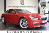 """USED 2014 14 BMW 6 SERIES 3.0 640D M SPORT 2DR AUTO 309 BHP excellent service history * NO ADMIN FEES * FINISHED IN STUNNING RED WITH FULL LEATHER INTERIOR + EXCELLENT SERVICE HISTORY + SATELLITE NAVIGATION + BLUETOOTH + HEAD-UP DISPLAY  + HARMAN/KARDON SURROUND SOUND + DAB RADIO + HEATED SEATS + LED FOG LIGHTS + PARKING SENSORS + 20"""" ALLOY WHEELS"""