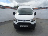 USED 2014 64 FORD TRANSIT CUSTOM 2.2 270 LR P/V 1d 99 BHP FORD TRANSIT CUSTOM HIGH ROOF PLY LINED NO VAT NO VAT