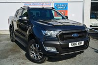 USED 2016 16 FORD RANGER 3.2 WILDTRAK 4X4 5 Seat Double Cab Lifestyle Pickup AUTO with NO VAT TO PAY SO SAVE 20% with Massive High Spec inc Stunning Alloys Tinted Privacy Glass Side Steps Towbar Roof Rails Rear Load Liner Heated Seats Rear Parking Sensors Cruise Control and much more THE PERFECT PICK UP
