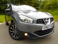 USED 2013 62 NISSAN QASHQAI 1.6 360 5d 117 BHP **SPECIAL EDITION 360, FULL GLASS ROOF, HALF LEATHER , SATNAV,  360  PARKING CAMERA , CRUISE CONTROL, PRIVACY GLASS, ONE PREVIOUS OWNER , ALLOYS **