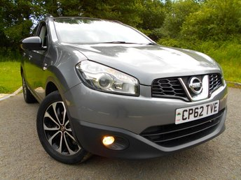 2013 NISSAN QASHQAI 1.6 360 5d 117 BHP **SPECIAL EDITION 360, FULL GLASS ROOF, HALF LEATHER , SATNAV,  360  PARKING CAMERA , CRUISE CONTROL, PRIVACY GLASS, ONE PREVIOUS OWNER , ALLOYS ** £6995.00