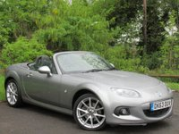 USED 2013 63 MAZDA MX-5 2.0 I ROADSTER SPORT TECH 2d 158 BHP * COVERTIBLE * FULL BLACK LEATHER INTERIOR * 128 POINT AA INSPECTION *