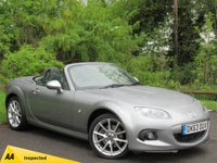 USED 2013 63 MAZDA MX-5 2.0 I ROADSTER SPORT TECH 2d * CONVERTIBLE * FULL BLACK LEATHER INTERIOR * 128 POINT AA INSPECTION *