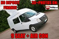 USED 2014 63 FORD TRANSIT 350 LWB 2.2 TDCI 1100100 LWB HIGH ROOF 9 SEAT COMBI VAN + AIR CON 1 KEEPER + 9 SEATS + AIR CON