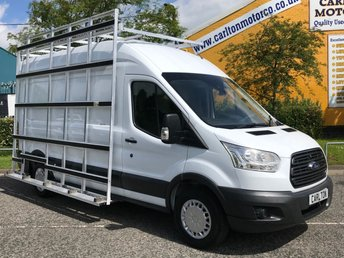 2015 FORD TRANSIT Trend [ GLAZIERS FRAIL GLASS RACK ] 2.2TDCi 125 RWD Ex Lease Free UK Delivery, £8950.00