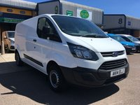 USED 2014 14 FORD TRANSIT CUSTOM 2.2 310 L2 H1 1d 99 BHP FSH, E/W, BLUETOOTH, P/SENSORS, 6 MONTHS WARRANTY & FINANCE ARRANGED. Full Ford Service history (4 stamps) rear Parking Sensors, Bluetooth, E/W, Radio, Drivers airbag, Factory fitted bulk head, side loading door, ply lined, Very Good Condition, 1 Owner, remote Central Locking, Drivers Airbag, Steering Column Radio Control, Barn Rear Doors, spare key, finance arranged on site & 6 months premium Autoguard warranty