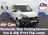 2016 FIAT DOBLO 1.3 16V SX MULTIJET 90 BHP in White with Air Conditioning, Bluetooth, Rear Parking Sensors, Electric Pack, Front Fog Lamps and more £5680.00