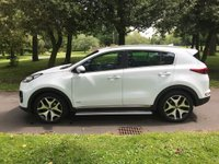 USED 2016 16 KIA SPORTAGE 2.0 CRDI GT-LINE 5d AUTO 134 BHP A Desirable Automatic GT Line Model with Four Wheel Drive and Only 1 Owner from New with Kia FSH Presented in Fantastic Condition Throughout with a Superb Specification Including; Dual Tone Heated Leather Seats with Lumbar Support, 19 Inch Alloy Wheels, GT Line Body Styling, 7 Inch Touch Screen with Satellite Navigation, Bluetooth Connectivity, DAB Radio with MP3, USB, Bluetooth Connectivity with Voice Control, Lane Keep Assist, Factory Fitted Side Steps, Front and Rear Park Distance Control...