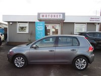 2012 VOLKSWAGEN GOLF 2.0 MATCH TDI BLUEMOTION TECHNOLOGY 5DR  DIESEL HATCHBACK 140 BHP £5770.00