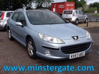 2007 PEUGEOT 407 2.0 SW SE HDI 5d 135 BHP * 65000 MILES, SERVICE HISTORY * £2690.00