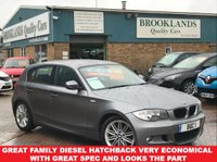USED 2011 11 BMW 1 SERIES 2.0 120D M SPORT 5 Door Space Grey Met. Half Leather Sports Seats 175 BHP Great Family Diesel Hatchback Very Economical with Great Spec and Looks the part