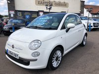 2014 FIAT 500 1.2 LOUNGE 3d 69 BHP SOLD