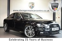 """USED 2015 15 AUDI A4 2.0 TDI BLACK EDITION [NAV] 4DR 187 BHP full service history  * NO ADMIN FEES * FINISHED IN STUNNING MITHOS BLACK WITH FULL BLACK LEATHER INTERIOR + FULL SERVICE HISTORY + SATELLITE NAVIGATION + BLUETOOTH + HEATED SPORT SEATS + DAB RADIO + CRUISE CONTROL + HEATED ELECTRIC FOLDING MIRRORS + PARKING SENSORS + 19"""" ALLOY WHEELS"""