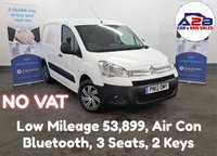 2012 CITROEN BERLINGO 1.6 HDi 625 ENTERPRISE with NO VAT TO PAY, Low Mileage 53,899, Air Conditioning, Bluetooth, 3 Seats, Rear Parking Sensors and more £4980.00