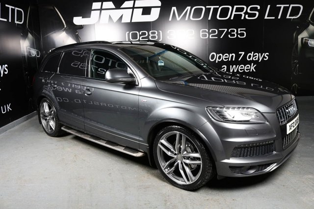 2013 AUDI Q7 3.0 TDI QUATTRO S LINE PLUS AUTO 245 BHP BLACK EDITION STYLE (FINANCE AND WARRANTY)