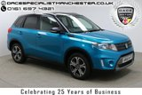 "USED 2015 65 SUZUKI VITARA 1.6 SZ5 DDIS ALLGRIP 5d 118 BHP Finished in Atlantis Turquoise Pearl Metallic with Half Leather Seats, Pan Sunroof, 17"" Alloy Wheels, Full Suzuki Service History, Privacy glass"