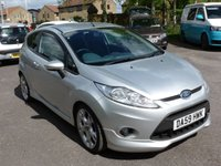 """USED 2010 59 FORD FIESTA 1.6 ZETEC S TDCI 3d 89 BHP PART EXCHANGE VEHICLE  FORD FIESTA ZETEC S, 3 door in Moondust Silver Specification includes, Cruise control, 2 keys, Parking sensors,  £20 RFL, Recent service including Cambelt & water pump change, 17"""" alloys, good service History."""