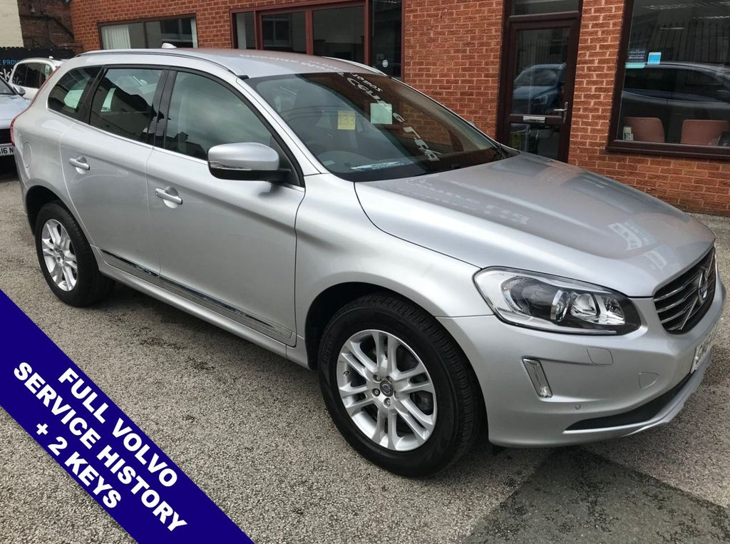"USED 2014 64 VOLVO XC60 2.4 D4 SE LUX NAV AWD 5DOOR AUTO 178 BHP DAB Radio     :     Satellite Navigation     :     USB & AUX Sockets     :     Automatic Headlights      Car Hotspot / WiFi   :   Cruise Control   :   Bluetooth   :   Climate Control / Air Conditioning      Heated Front Seats      :      Electric Driver Seat      :      Full Black Leather Upholstery      Automatic Tailgate          :          Front & Rear Parking Sensors          :          18"" Alloy Wheels     2 Keys   :   Full Volvo Service History"