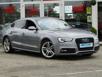USED 2015 15 AUDI A5 2.0 SPORTBACK TDI S LINE 5d 177 BHP STUNNING, 1 Owner, £30 Road tax, AUDI A5, 2.0 TDI S/LINE, 180 BHP. Finished in SPECIAL EDITION TORNADO GREY PEARL with contrasting Black HEATED LEATHER trim. This A5 is stylish, looks great and feels very well built. It has a plush interior with every extra. Features include, £30 Road tax, Sat Nav, Front and Rear heated seats, DAB radio, B/Tooth, Park Sensors and much more.