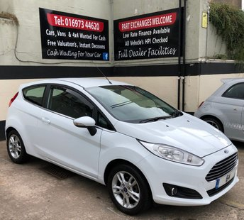 2014 FORD FIESTA ZETEC 1.25 3DR 82 BHP, LOW MILEAGE, ONLY £30 ROAD TAX £6495.00