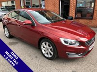 "USED 2014 64 VOLVO S60 2.0 D4 SE LUX 4DOOR 178 BHP DAB   :   USB & AUX Socket   :   Automatic Headlights   :   Cruise Control / Speed Limiter     Bluetooth Connectivity     :     Climate Control / Air Conditioning     :     Electric Driver Seat          Full Black Leather Upholstery   :   Rear Parking Sensors   :   17"" Alloy Wheels   :   2 Keys         Comprehensive Service History"